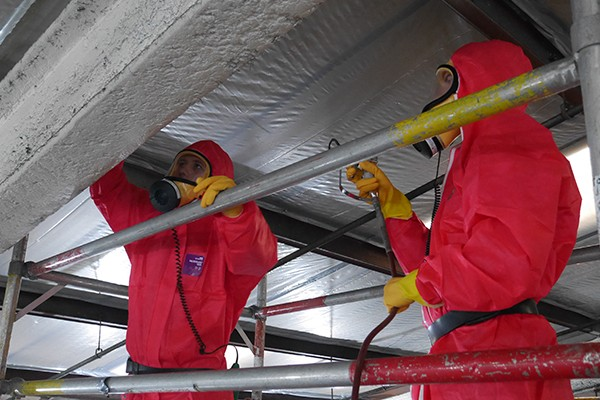 removal of all asbestos containing materials